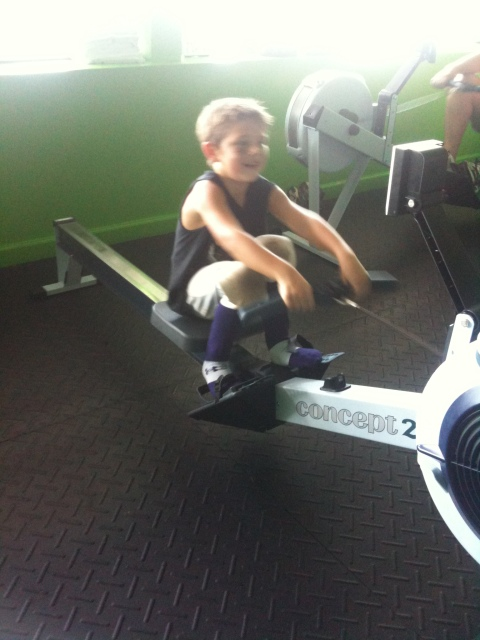 Max - holds the overall record for 32mins rowed in one session (in football pants)