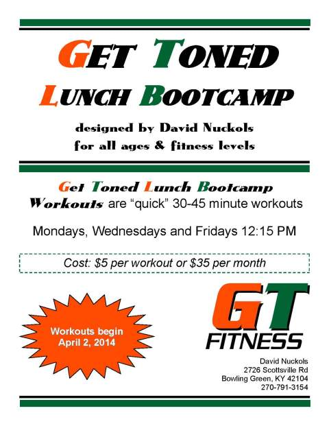 get toned lunch bootcamp