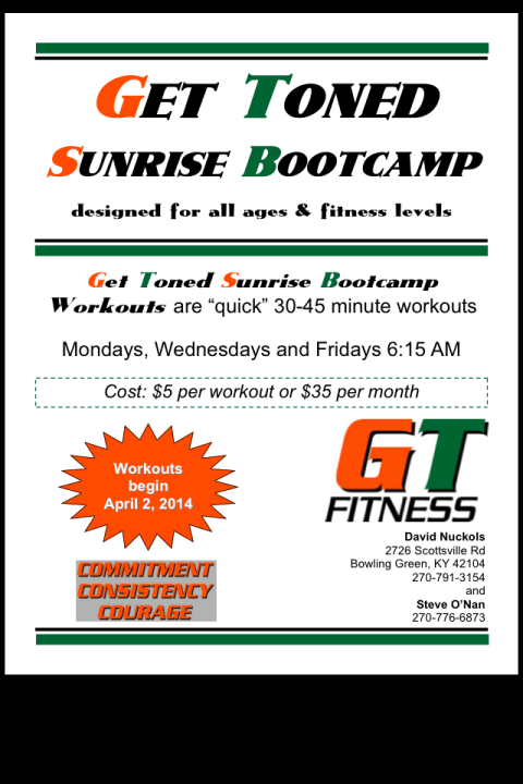 Get Toned Sunrise Boot-camp